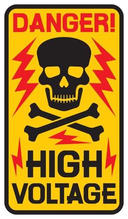 Illustration pour danger high voltage sign high voltage symbol - image libre de droit