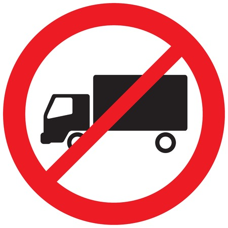 Illustrazione per no truck sign (no parking symbol, prohibition icon) - Immagini Royalty Free