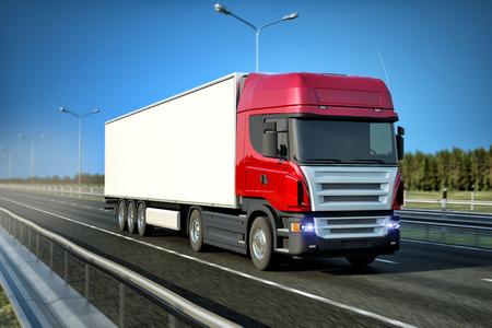 Photo pour Logistics - Trucking - image libre de droit