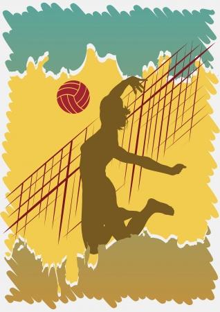 Illustration pour Volleyball poster - image libre de droit