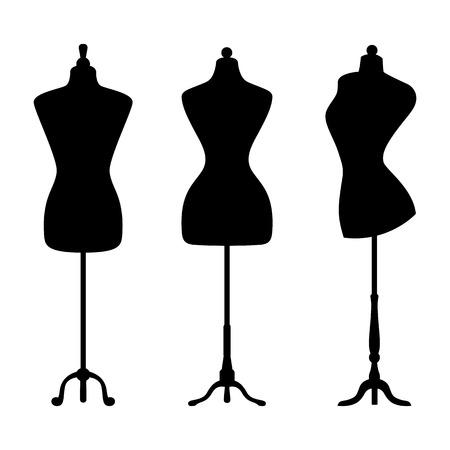 Photo pour Vintage mannequins. Vector. - image libre de droit