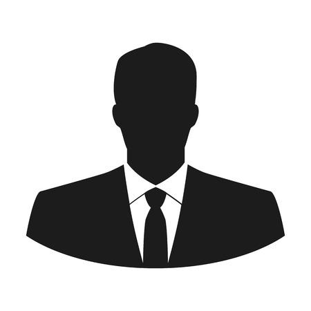 Illustration pour Vector user icon of man in business suit - image libre de droit