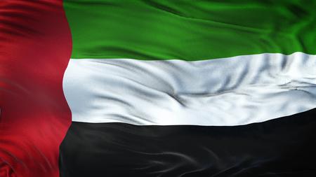Photo for UAE Realistic Waving Flag Background - Royalty Free Image