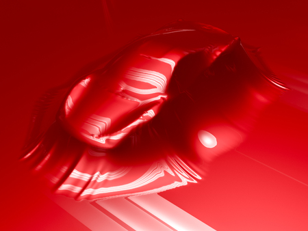 Foto de Car wrapping film and tools. High quality  photo realistic render - Imagen libre de derechos