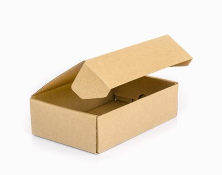 Foto de cardboard  box  isolated on a white background. - Imagen libre de derechos