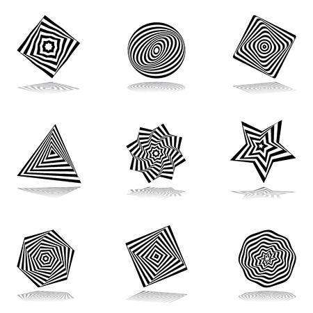Illustration pour Design elements set. Abstract icons. Vector art. - image libre de droit