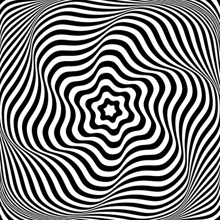 Illustration for Illusion of wavy rotation movement. Abstract op art illustration. Vector art. - Royalty Free Image