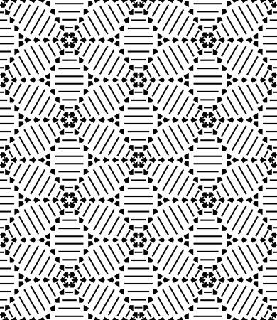 Illustration pour Seamless geometric pattern. Vector art. - image libre de droit