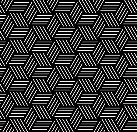 Illustration for Seamless op art pattern. Geometric texture. Vector art. - Royalty Free Image