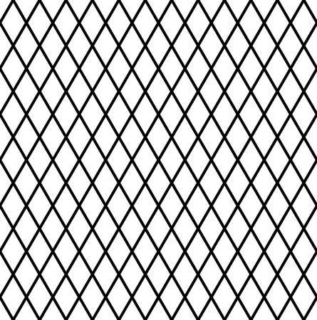 Illustration pour Seamless diamonds pattern. Geometric latticed texture. Vector art. - image libre de droit