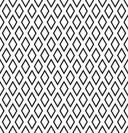 Illustration pour Seamless diamonds pattern. Geometric texture. Vector art. - image libre de droit