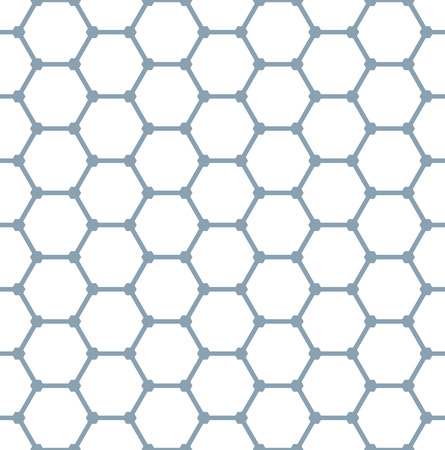 Illustration pour Seamless hexagons pattern. Geometric texture. Vector art. - image libre de droit