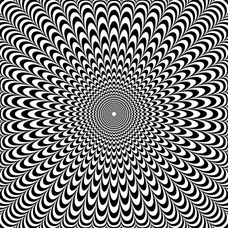 Illustration for Optical illusion abstract design. Op art pattern. Vector illustration. - Royalty Free Image