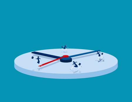Ilustración de Hurry. Business people and rush hour. Concept business vector illustration. - Imagen libre de derechos