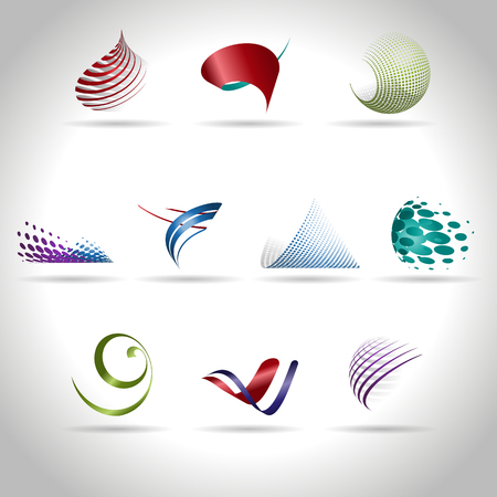 Photo for Abstract web Icon and logo sample, vector illusration - Royalty Free Image