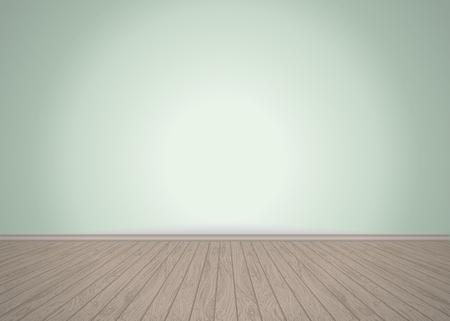 Illustration pour Empty room with wooden floor, vector illustration - image libre de droit