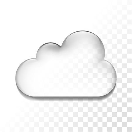 Illustration pour Transparent glossy cloud isolated icon, vector illustration - image libre de droit