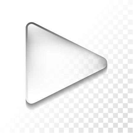 Ilustración de Transparent glossy play isolated icon, vector illustration - Imagen libre de derechos