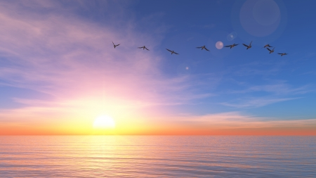 Photo for sun rise - Royalty Free Image
