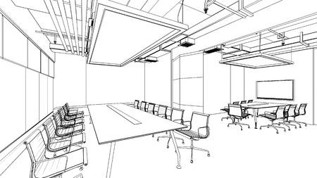 Foto de outline sketch of a interior - Imagen libre de derechos