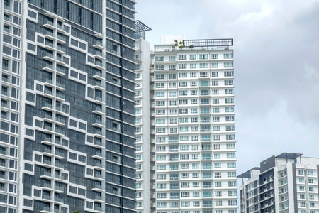 Photo for Modern residential high-rise buildings in Singapore - Royalty Free Image
