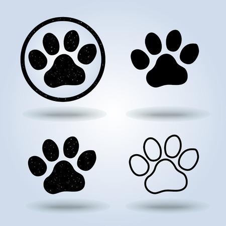 Ilustración de paw Print icon , vector - Imagen libre de derechos