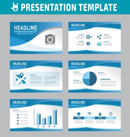 Illustration pour Set of multipurpose business presentation template - image libre de droit