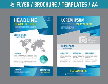 Ilustración de Flyer multipurpose design vector template in A4 size.abstract brochure modern style.booklet cover annual report layout.Business marketing concept illustration. - Imagen libre de derechos