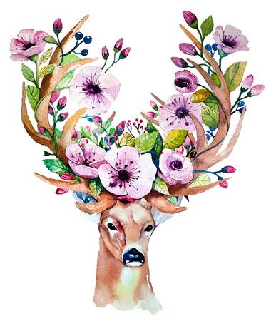 Ilustración de watercolor hand drawn floral set - Imagen libre de derechos