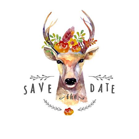 Ilustración de Deer watercolor - Imagen libre de derechos