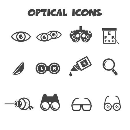 Illustration pour optical icons, mono vector symbols - image libre de droit