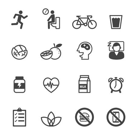 Illustration pour wellness icons, mono vector symbols - image libre de droit