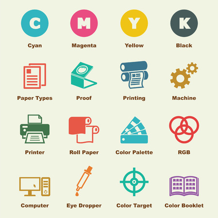 Illustration pour printing elements, vector infographic icons - image libre de droit