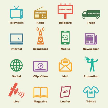 Ilustración de advertising elements - Imagen libre de derechos