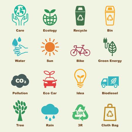 Ilustración de save the earth elements, vector infographic icons - Imagen libre de derechos