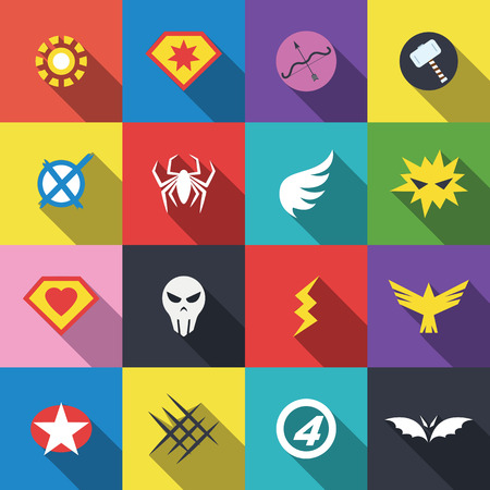 Illustration pour superhero badge, vector flat design - image libre de droit