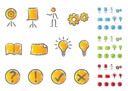 Illustration pour Presentation icons scribble - image libre de droit