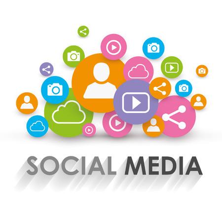 Illustration pour Social Media Concept - Viral Marketing - Vector Illustration - image libre de droit