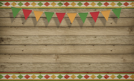 Photo for Cinco de Mayo, USA Mexican Celebration, Backgrounds. Wood copy space - Royalty Free Image