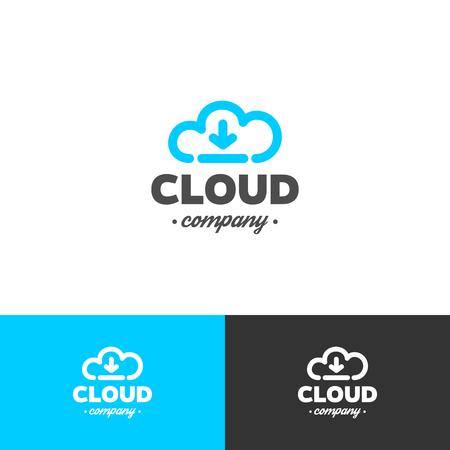 Illustration pour Logo cloud storage. Vector design template. Cloud and arrow. - image libre de droit