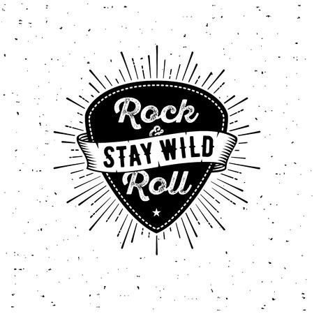 Illustration pour Rock n Roll white - image libre de droit