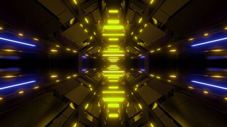 Photo pour futuristic hangar background wallpaper 3d render - image libre de droit