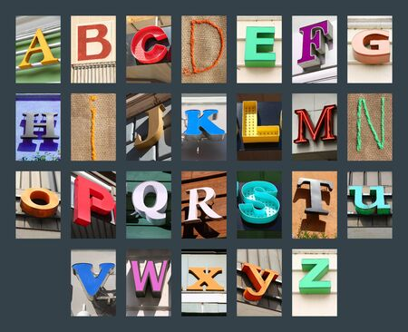 Photo for City letters font - urban design elements. Colorful font. - Royalty Free Image