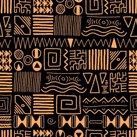 Illustration pour African ethnic pattern - tribal art background. Africa style design. - image libre de droit