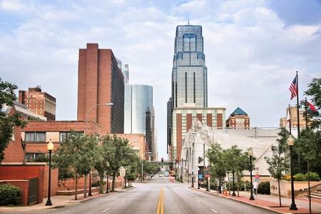 Foto de Kansas City, Missouri - city in the United States. Downtown skyline. - Imagen libre de derechos