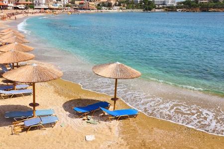 Foto de Agia Pelagia holiday town, Crete island, Greece. - Imagen libre de derechos