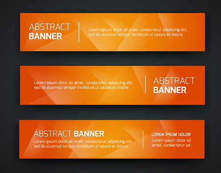 Illustration pour Abstract banner design, gradient polygonal style. Vector - image libre de droit