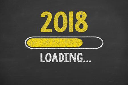 Foto per Innovation Technology New Year 2018 on Chalkboard - Immagine Royalty Free