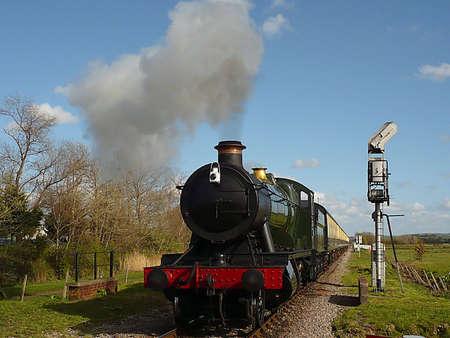 Restored steam train, West Somerset Railway, South West England