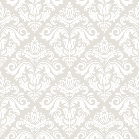 Illustration pour Wallpaper in the style of Baroque. Seamless vector background. Light damask floral pattern with orient and floral elements - image libre de droit